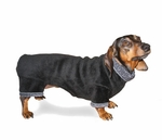 Dachshund Windblock Black Fleece Bodysuit