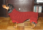 Dachshund Chestnut/Black Cuffed Fleece Bodysuit