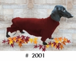 Dachshund Merlot Fleece Bodysuit