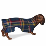 Dachshund Dark Plaid Indoor Outdoor Bodysuit