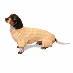 Dachshund Mango Plaid Indoor/Outdoor Bodysuit