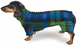 Dachshund Blackwatch Plaid Indoor/Outdoor Bodysuit
