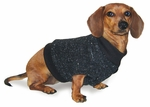 Dachshund Fleeced Black Sweater