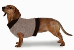 Dachshund Fleeced Sweater - Camel