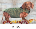 Dachshund Green Garland Overcoat