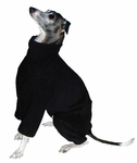 Italian Greyhound Black Fleece Outdoor Bodysuit