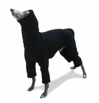 Italian Greyhound Black Hooded Fleece Bodysuit