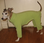 Italian Greyhound Mint Outdoor Fleece Bodysuit
