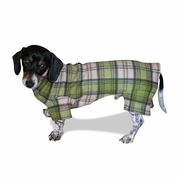 Dachshund Grass Plaid Indoor/Outdoor Bodysuits