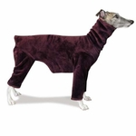 Whippet Windblock Fleece Bodysuit - Mahogany