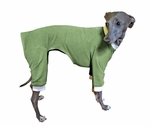 Italian Greyhound Grass Green Rompers