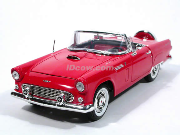 1956 Ford Thunderbird Cast Model Car 1 18 Scale By Motor Max Red