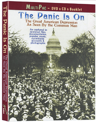 The Panic Is On: The Great American Depression As Seen by the Common Man DVD/CD/Booklet - www.ihfhilm.com