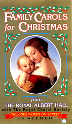 Family Christmas Carols From The Royal Albert Hall With The Royal Choral Society (VHS Tape) - www.ihfhilm.com