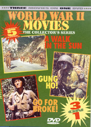 World War II Movies Collectors Series A: A Walk In The Sun; Gung Ho!; Go For Broke! (DVD) - www.ihfhilm.com
