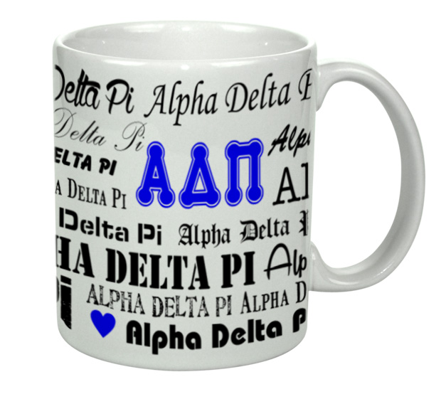 Alpha Delta Pi Collage Coffee Mug