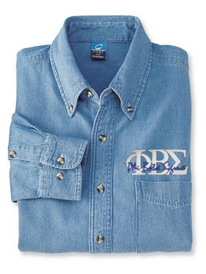 Phi Beta Sigma Denim Shirt - Letters
