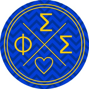 Phi Sigma Sigma Well Balanced Round Decals