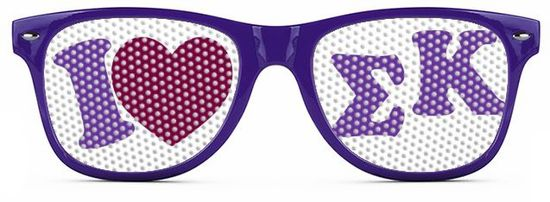 Sorority Wayfarer Style Lens Sunglasses