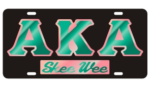 Alpha Kappa Alpha License Plate - Black, Call