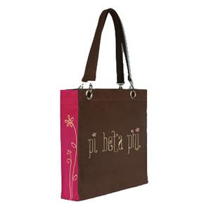Pi Beta Phi Sorority Canvas Tote Bag - Extreme Closeout