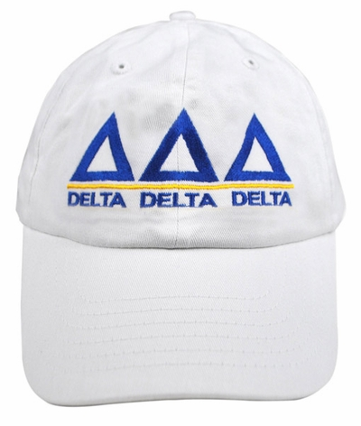 Delta Delta Delta World Famous Line Hat - MADE FAST!