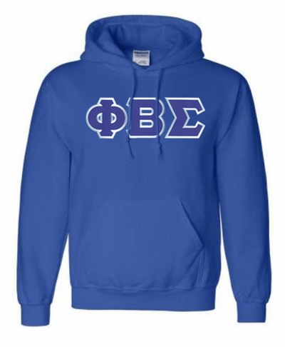 Phi Beta Sigma Lettered Greek Hoodie- MADE FAST!