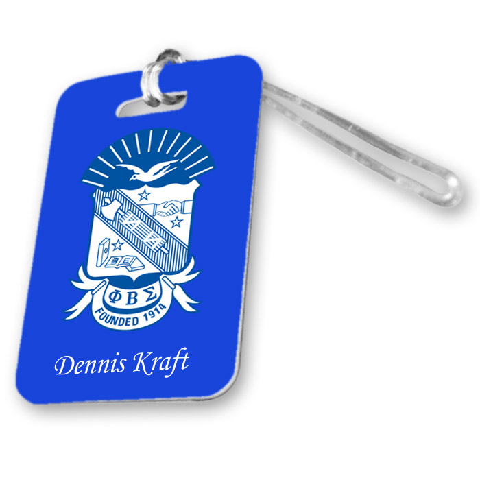 Phi Beta Sigma Luggage Tag