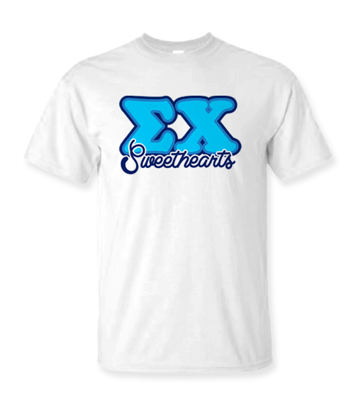 Fraternity balloon letter sweethearts t shirts sale 1595 for Where to buy greek letter shirts