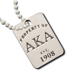 Alpha Kappa Alpha Property Of Tag Necklace
