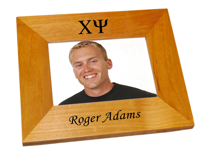 Chi Psi Wood Picture Frame
