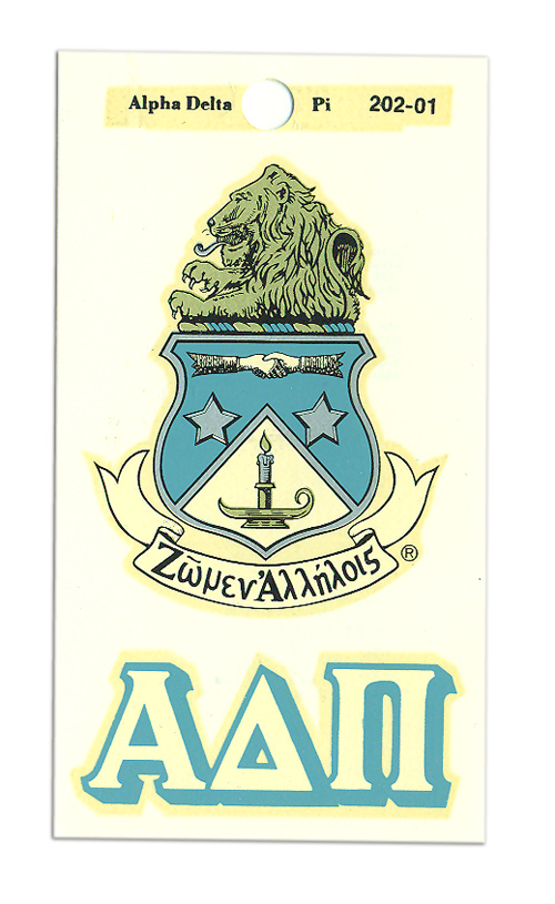 Alpha Delta Pi Crest Decals
