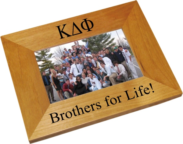 Kappa Delta Phi Wood Picture Frame