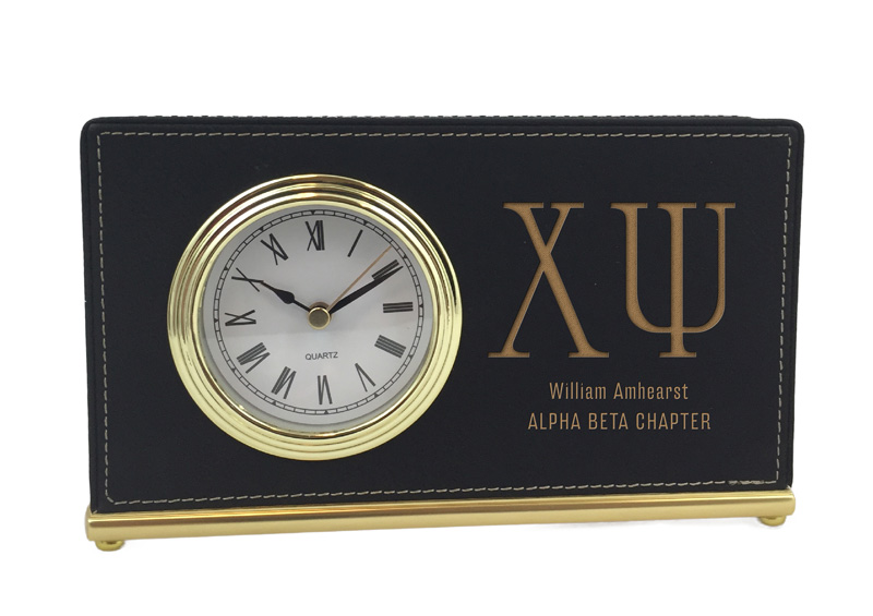 Chi Psi Horizontal Desk Clock