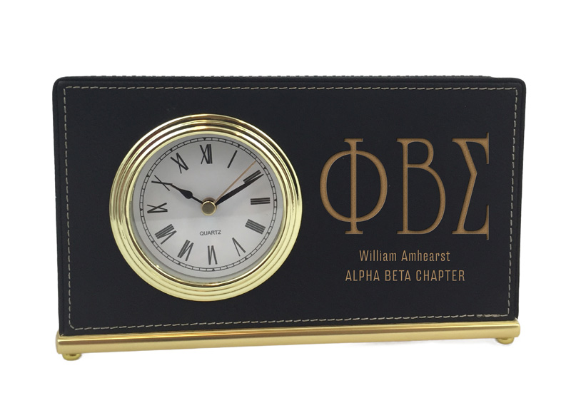Phi Beta Sigma Horizontal Desk Clock
