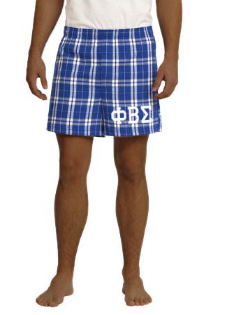 Phi Beta Sigma Flannel Boxer Shorts