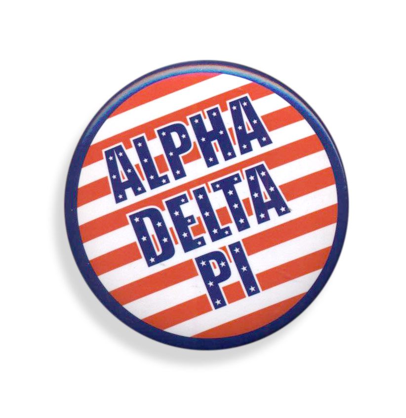 Alpha Delta Pi Patriotic USA Button