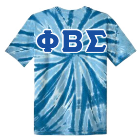 Phi Beta Sigma Essential Tie-Dye Lettered Tee