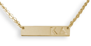 Kappa Delta Cross Bar Necklace