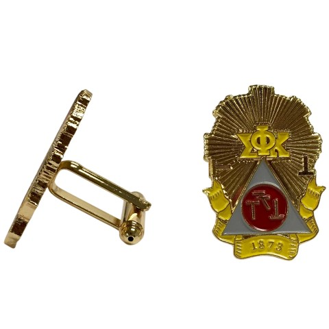 Phi Sigma Kappa Color Crest Cuff links