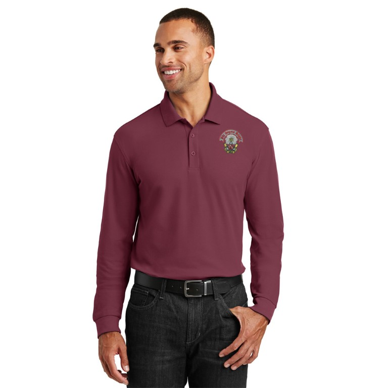 Phi Sigma Kappa Emblem Long Sleeve Polo