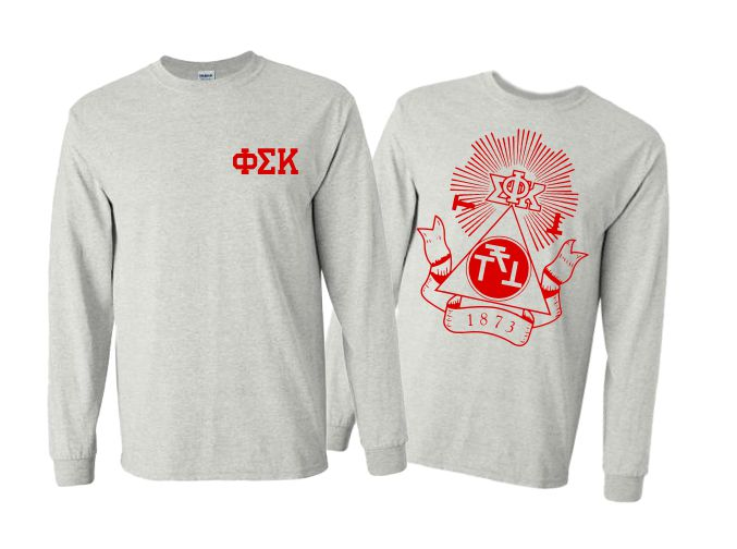 Phi Sigma Kappa World Famous Crest Long Sleeve T-Shirt- $19.95!