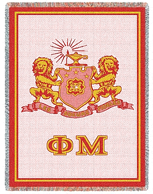 Phi Mu Afghan Blanket Throw