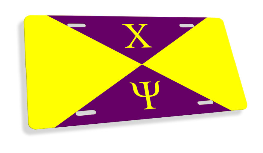 Chi Psi Flag License Cover