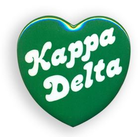 Kappa Delta Heart Shaped Button