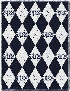 Phi Beta Sigma Plaid Afghan Blanket