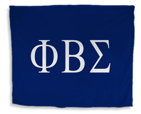 Phi Beta Sigma Flag Giant Velveteen Blanket