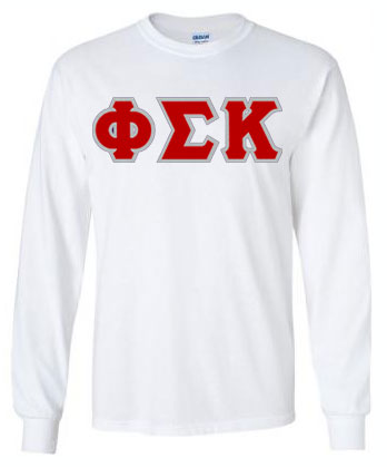 $20 Phi Sigma Kappa Lettered Long sleeve