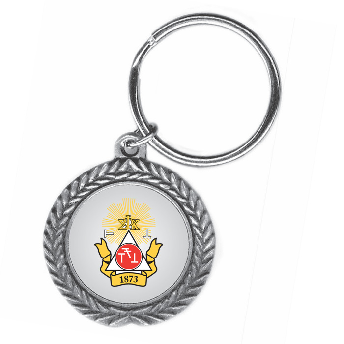 Phi Sigma Kappa Pewter Key Ring