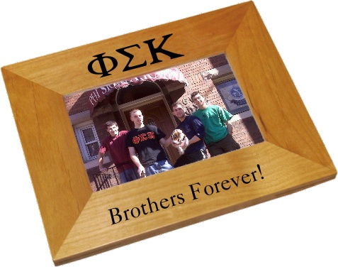 Phi Sigma Kappa Wood Picture Frame